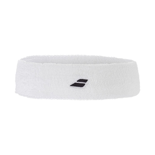 Babolat Headband White Black Logo