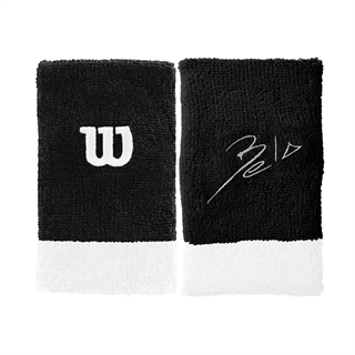Wilson Bela Extra Wide Wristband Black/White