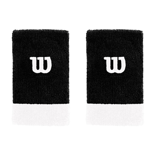 Wilson Extra Wide Wristband Black/White